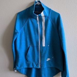 NIKE TECH Fleece Moto Cape Zip Up Jacket Large